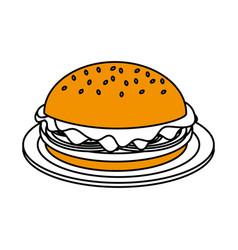junk food design vector image