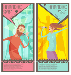 karaoke party tickets vector image