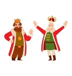 King cartoon character vector image