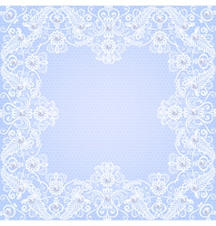 Lace floral frame vector