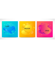 liquid color backgrounds set vector image