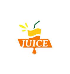 Logo fresh juice with orange symbol vector