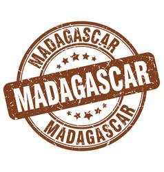 Madagascar stamp vector