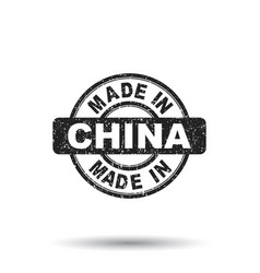 made in china stamp on white background vector image