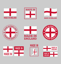 made in england labels set made in england vector image