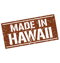 Made in hawaii stamp vector