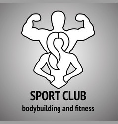 Man and woman fitness logo vector