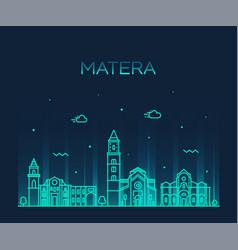 Matera skyline basilicata southern italy a vector