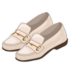Men shoes and clothes trends footwear 1970s vector