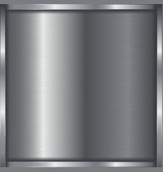 Metal 3d background with frame vector