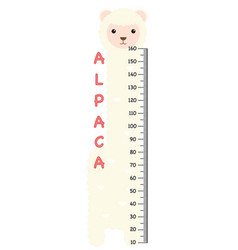 Meter wall with alpaca vector