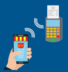 mobile payment nfc payment vector image