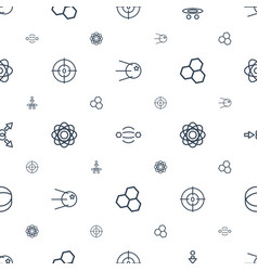 Molecule icons pattern seamless white background vector