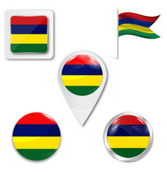 Original and simple mauritius flag isolated vector