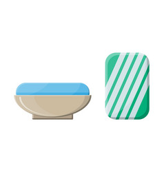 piece of soap in the soap dish vector image