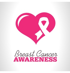Pink Breast Cancer Awareness Icon vector image