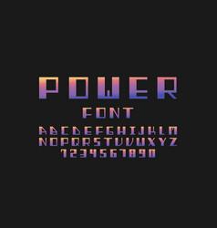 Power font alphabet vector