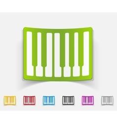 Realistic design element piano keys vector