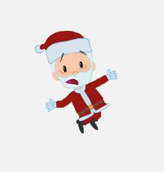 Santa claus jumping terrified vector