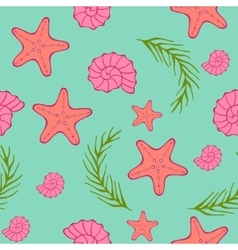 Seamless sea pattern blue green background vector