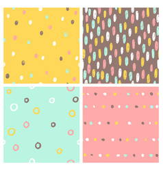 set 4 seamless patterns vector image