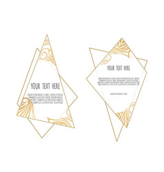 Set of white and gold design templates for vector
