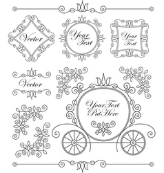 Set vintage ornaments vector