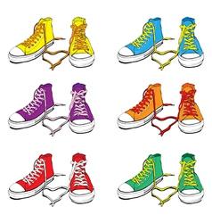 Sneakers set vector