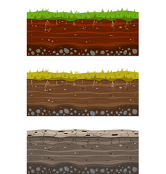 Soil ground layers seamless ground earth drying vector