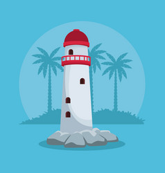 summer and beach concept vector image
