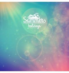 Summer holidays sunset with defocused lights vector