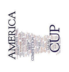 The america s cup text background word cloud vector
