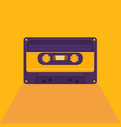 vintage audio cassette vector image