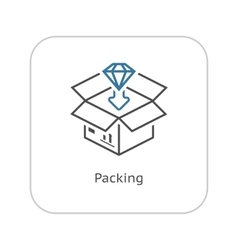 Packing Icon Flat Design vector image vector image