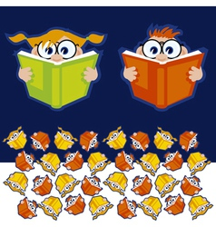 reading books vector image vector image