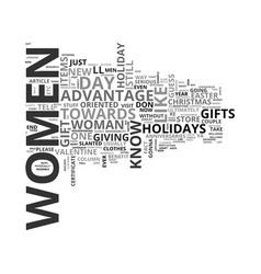 women own the holidays text word cloud concept vector image