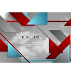 Abstract geometric brochure template layout with vector image