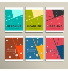 Abstract line and shapes on bright background vector image