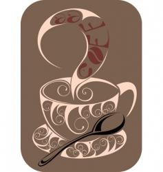 coffeetea design vector image vector image