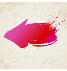 Red grunge arrow vector image