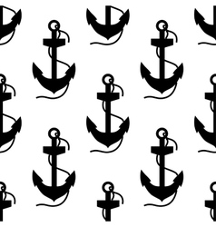 Seamless pattern of ships anchors vector image