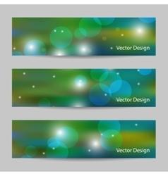 Set of modern horizontal flyers vector image