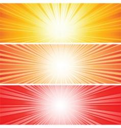sunbursts vector image vector image