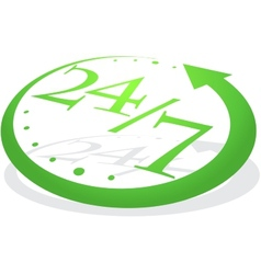 Abstract green watch vector image