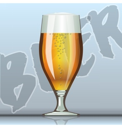 Digital glass of brown beer vector image vector image
