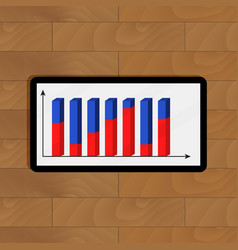 Digital tablet with finance analytics vector