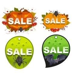 Set Halloween sale template label vector image