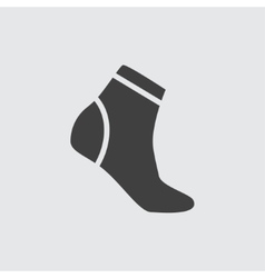 Sock icon vector image