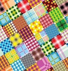 textile patchwork square vector image