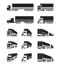 Trucks in different perspective view vector image vector image
